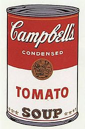 Andy Warhol' Campbell Soup Painting